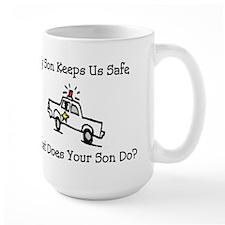 My Son Keeps Us Safe Ceramic Mugs