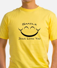 Smile Jesus Loves You T-Shirt (yellow)