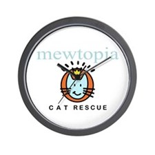 Smiley Cat Mewtopia Wall Clock