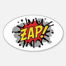 Zap! Sticker (Oval)