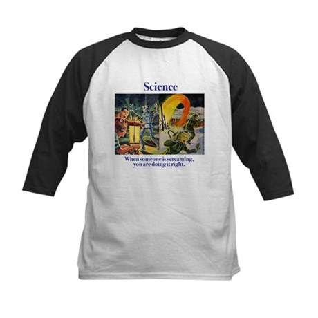Science and Screaming Kids Baseball Jersey