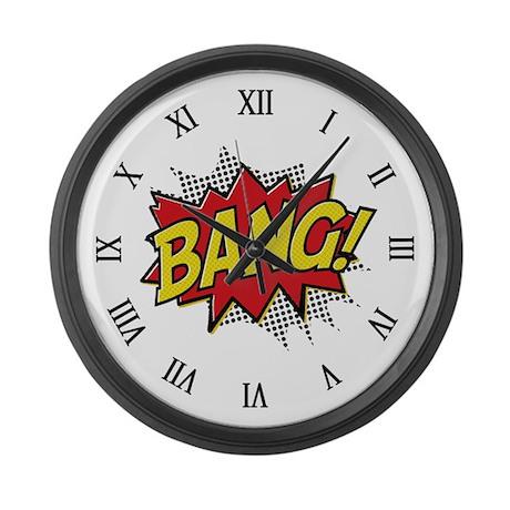 Bang! Large Wall Clock