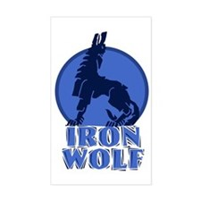 iron wolf Rectangle Decal