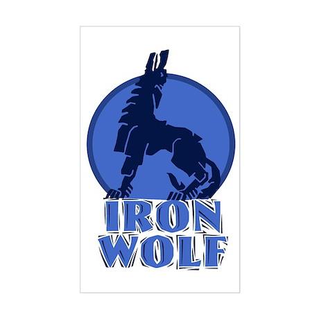 iron wolf Rectangle Sticker