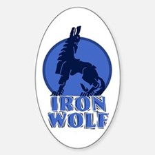 iron wolf Oval Bumper Stickers