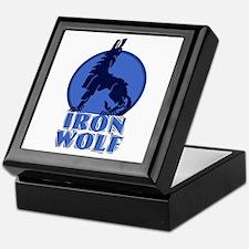 iron wolf Keepsake Box