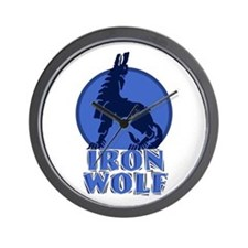 iron wolf Wall Clock