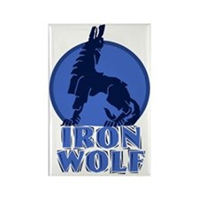 iron wolf Rectangle Magnet (10 pack)