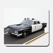 Code4 Tshirts Vintage LAPD Police Car Mousepad