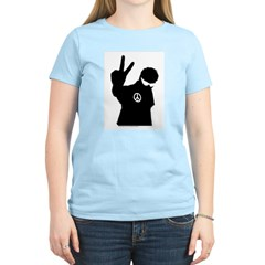 Peace Man Gift Gear Women's Pink T-Shirt
