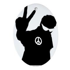 Peace Man Gift Gear Oval Ornament