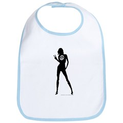 Peace Woman Girl Gear Bib