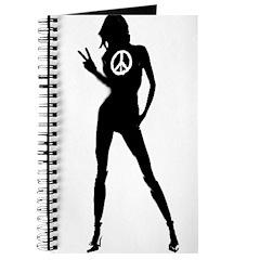 Peace Woman Girl Gear Journal