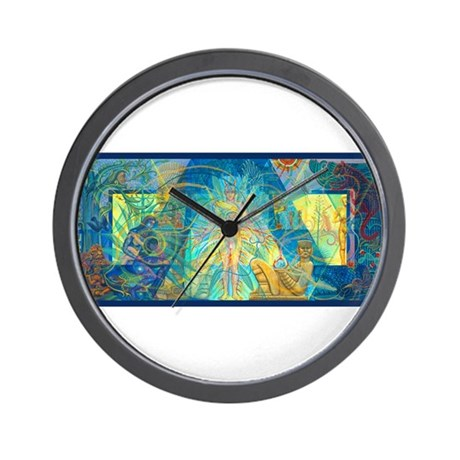 Mayahuel mural wall clock by castillo gifts for Clock wall mural
