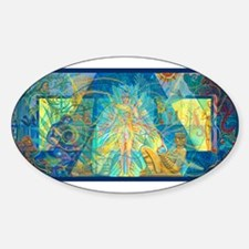 Mayahuel Mural Oval Decal
