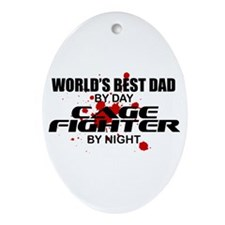 World's Best Dad - Cage Fighter Ornament (Oval)