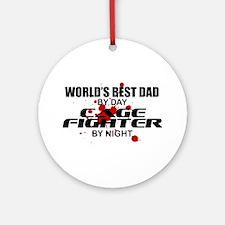 World's Best Dad - Cage Fighter Ornament (Round)