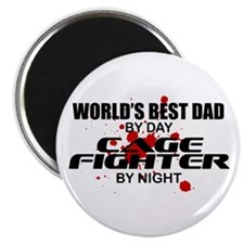 World's Best Dad - Cage Fighter Magnet