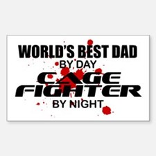 World's Best Dad - Cage Fighter Decal