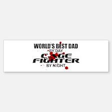 World's Best Dad - Cage Fighter Sticker (Bumper)