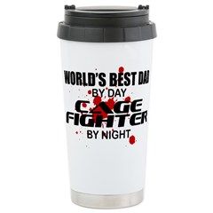 World's Best Dad - Cage Fighter Stainless Steel Tr