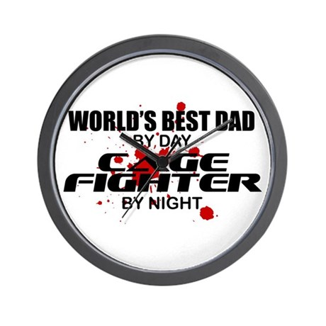 World's Best Dad - Cage Fighter Wall Clock