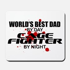 World's Best Dad - Cage Fighter Mousepad