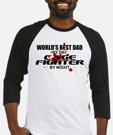 World's Best Dad - Cage Fighter Baseball Jersey