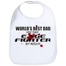 World's Best Dad - Cage Fighter Bib