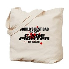 World's Best Dad - Cage Fighter Tote Bag