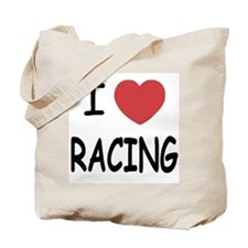 I love racing Tote Bag