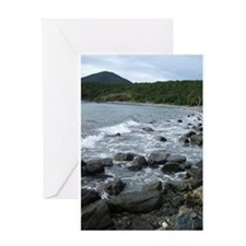 Ram's Head Rocky Shore Greeting Card