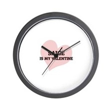 Saige Is My Valentine Wall Clock