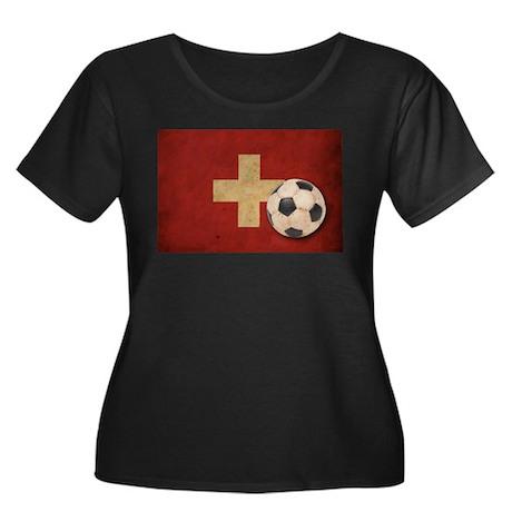 Vintage Switzerland Football Women's Plus Size Sco