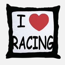 love racing Throw Pillow