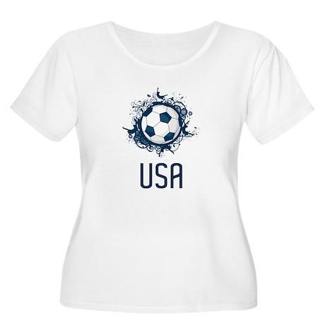 USA Soccer Women's Plus Size Scoop Neck T-Shirt