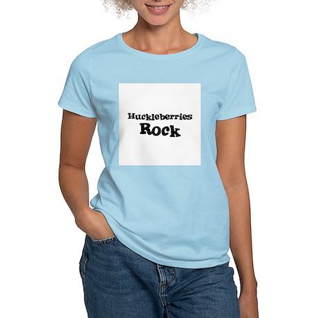 Huckleberries Rock Women's Pink T-Shirt