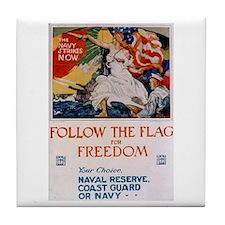 Follow the Flag Tile Coaster