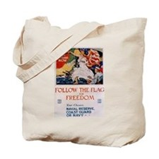 Follow the Flag Tote Bag