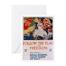 Follow the Flag Greeting Card