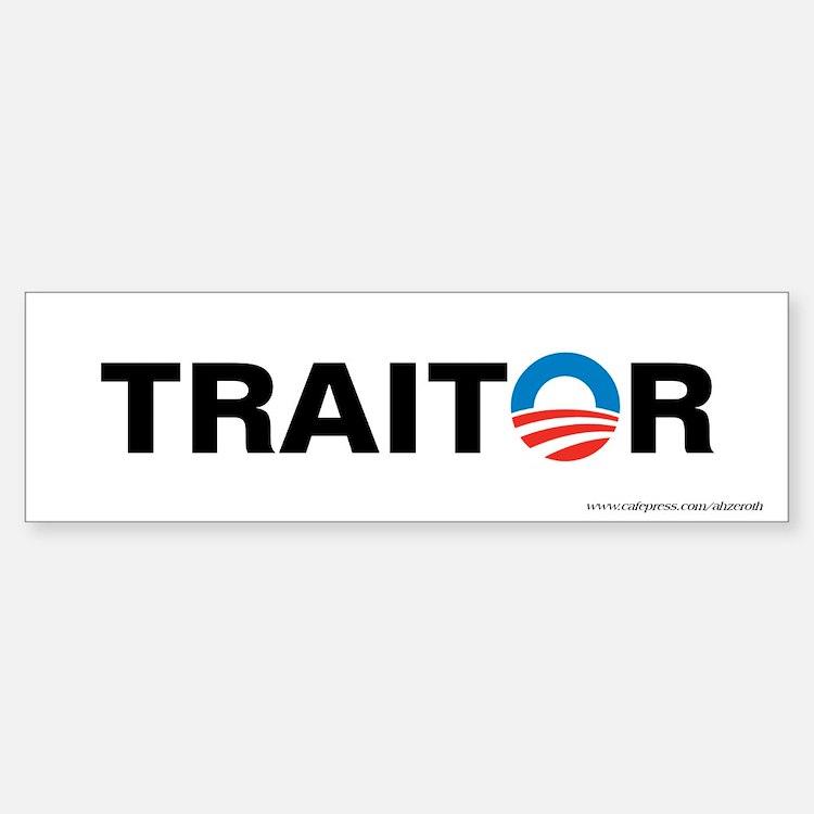 Obama - Traitor, Bumper Bumper Sticker