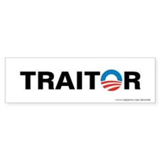 Obama - Traitor, Bumper Sticker