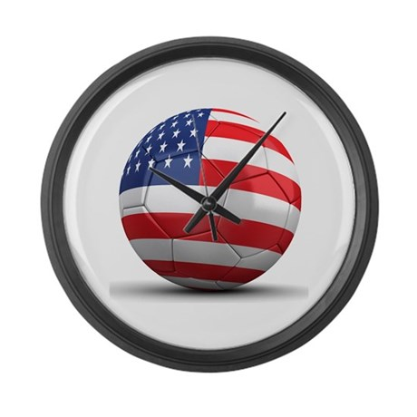USA Soccer Ball Large Wall Clock