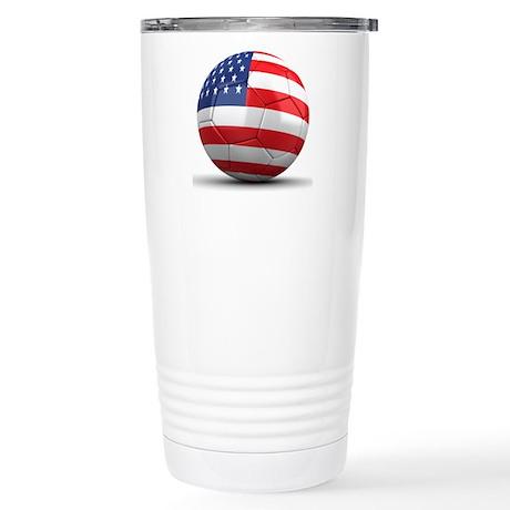 USA Soccer Ball Stainless Steel Travel Mug