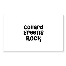 Collard Greens Rock Rectangle Decal