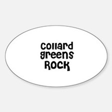Collard Greens Rock Oval Decal