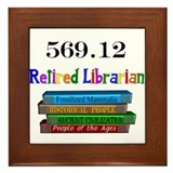 Retired librarian Framed Tiles