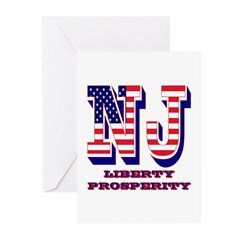 New Jersey NJ Liberty An Greeting Cards (Pk of 10)
