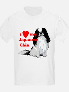 Japanese Chin valentine Kids T-Shirt