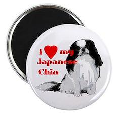 Japanese Chin valentine Magnet